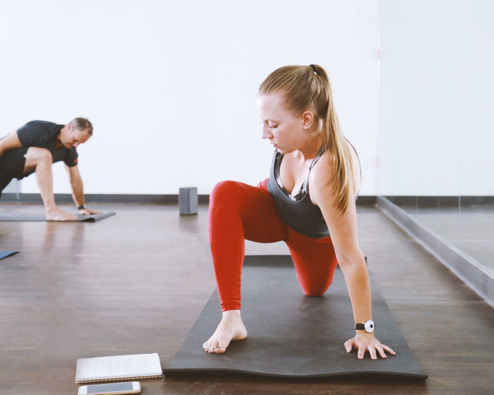 Cindy Raspiller Teaching a Yoga Class