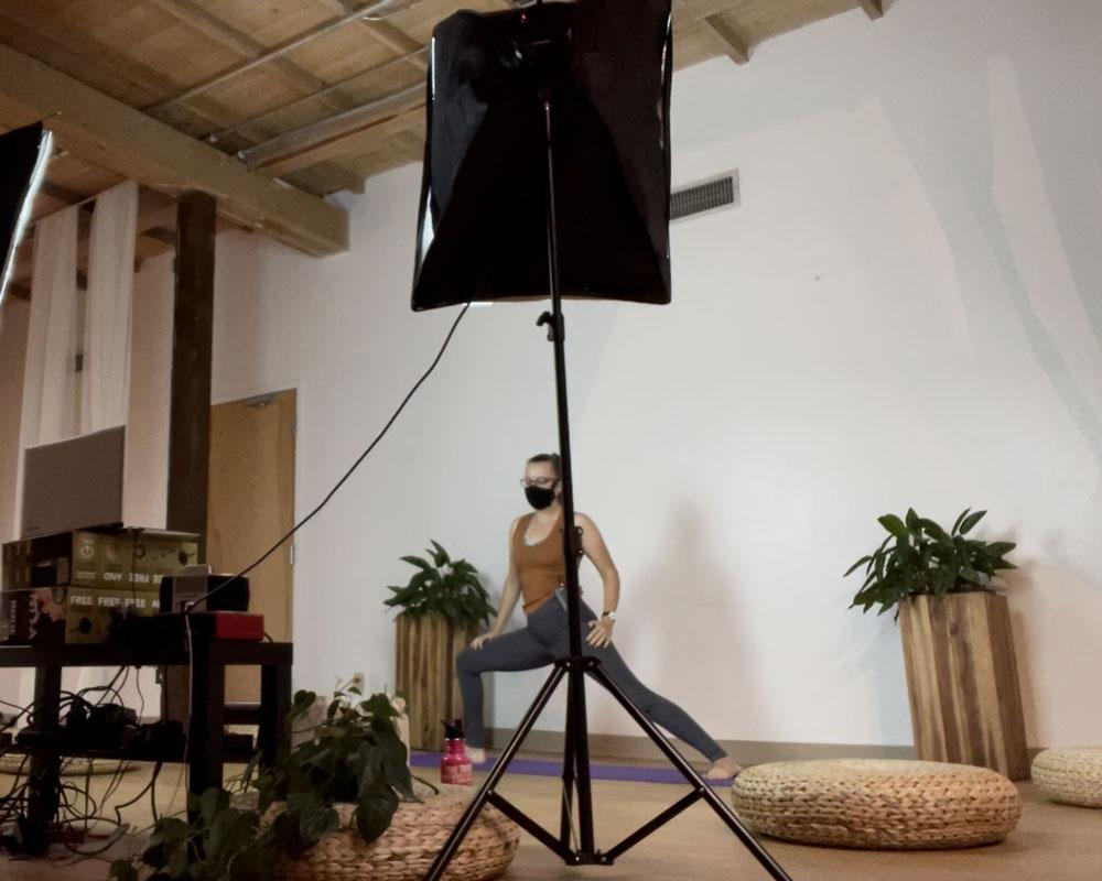 Cindy Teaching Yoga at Samadhi Yoga Gruha